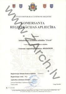 Registracijas aplieciba_ZArch