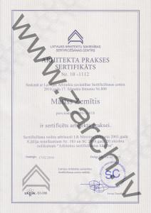 matiss zemitis arhitekta sertifikats zarch majaslapa arhitekts arhitektu birojs
